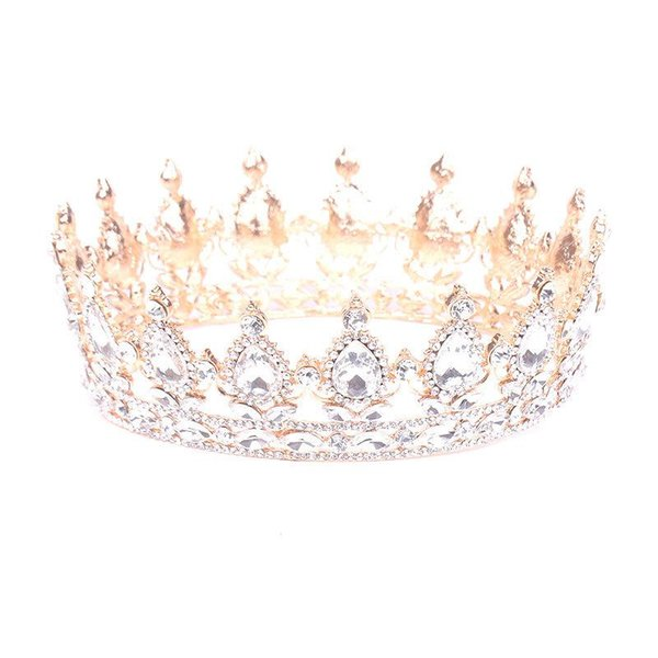 Europe and the United States popular round crown wedding headdress wedding accessories bridal jewelry