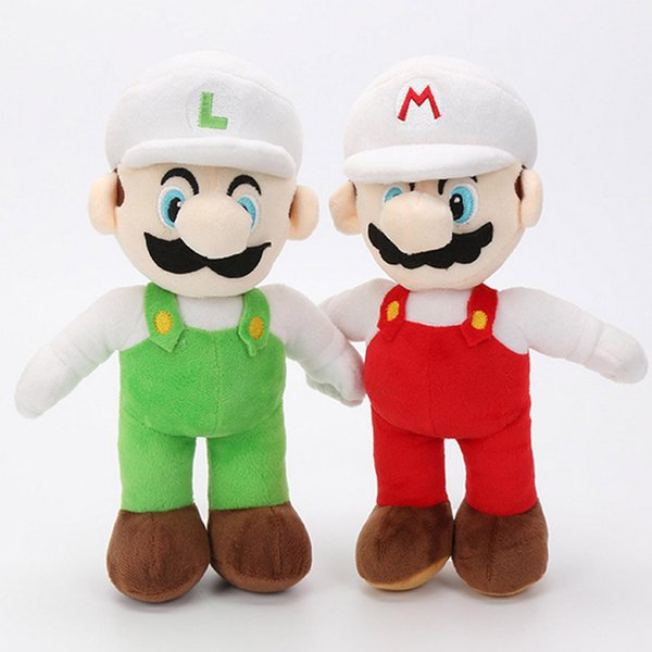 Nuova bambola di peluche Super Mario Bros in piedi da 25 cm Mario Luigi