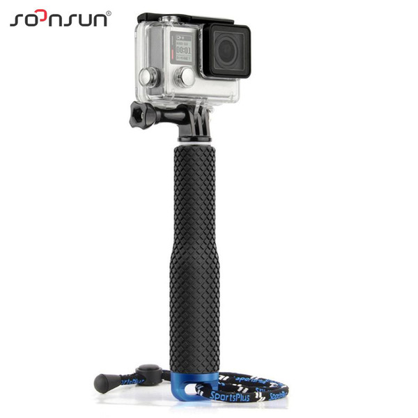 wholesale For GoPro Aluminum Extendable Pole Selfie Stick Waterproof Handheld Monopod for GoPro Hero 6 5 4 3+ SJ4000 for Xiaomi Yi