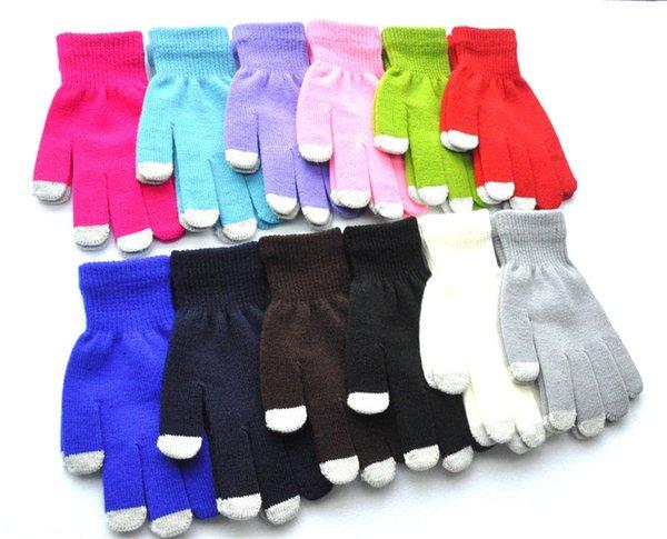 2018 neue stile männer frauen touchscreen handschuhe winter warm plus dicke gestrickte handschuhe für handy ipad 12 stile weihnachtsgeschenke h924q