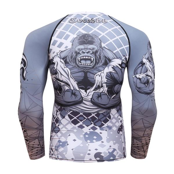 2018 new compression shirt men base layer long sleeves 3d prints thermal under mma rashguard tights skin man's t shirt coceddb thumbnail