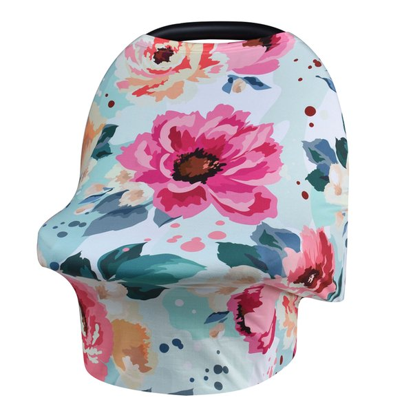 New Baby Nursing Cover Printed ,Shopping Cart, High Chair, Car Seat Canopy,Multi Use Breastfeeding Cover Up Stroller Crseat