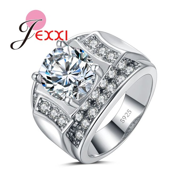 JEXXI New Arrivale Best Gifts for Women Men 925 Sterling Silver Bridal Finger Rings Jewelry Wedding Anillo Accessories