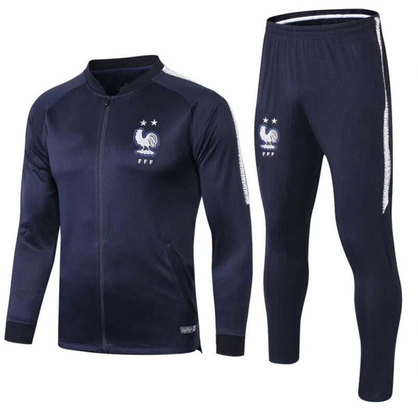 2019 jerseys football jogging Equipe de france new long sleeve soccer tracksuit training track suit 2019 French two-star jacketMulti color