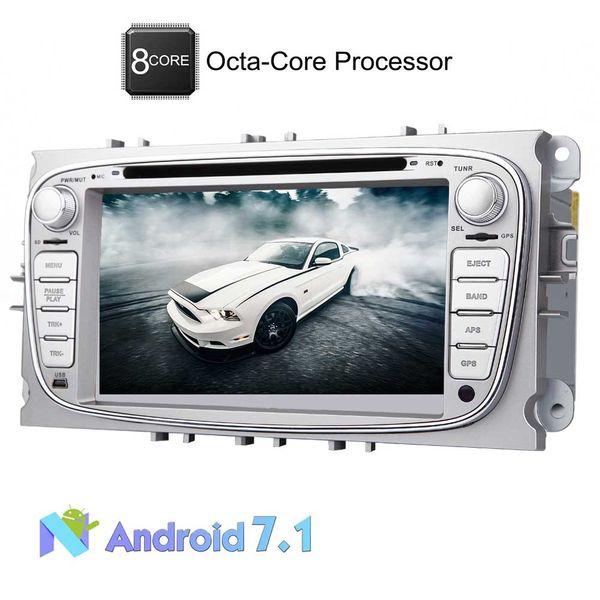 Lecteur DVD de voiture Eincar Android 7.1 pour Octa Core 7 '' pour Ford S-max 2008-2012 Focus 2008-2010 Galaxy 2010-2012 Bluetooth Navigation