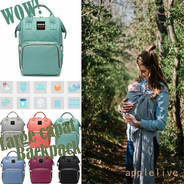 Wholesale Baby Diaper Bag Maternity Women Backpack Rucksack Mummy Travel Stroller Hang Bag Stuff Sacks