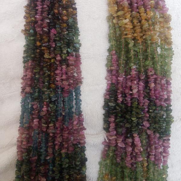 5-8mm parte tormalina colore ghiaia sezione pietra naturale chip colorato arcobaleno intervallo colore irregolare regale lusso branello allentato