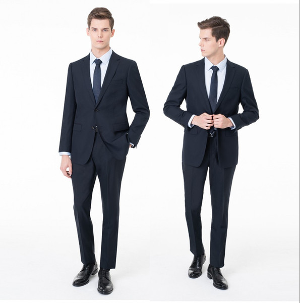 Cyan Stripe Men Wedding Suits Slim Fit groom Formal Wear Best-men Groom Tuxedos Suits Business Men Wear(Jacket+Pants) ST0034