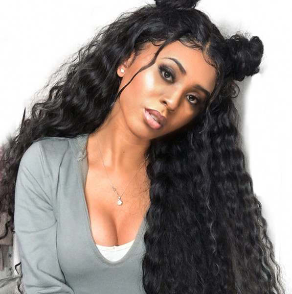 Water Wave Lace Front Human Hair Wigs For