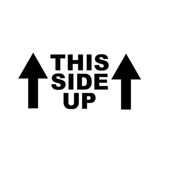 This Side Up Humor Funny Car Truck Window Decal Sticker Suv Laptop Wall Vinyl Decals