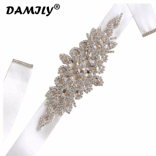 Luxury Women Weddin High Quality Rhinestone Belt Bridal Sash Wedding Party Bride Bridesmaid Dress Belt Ribbon Sashes