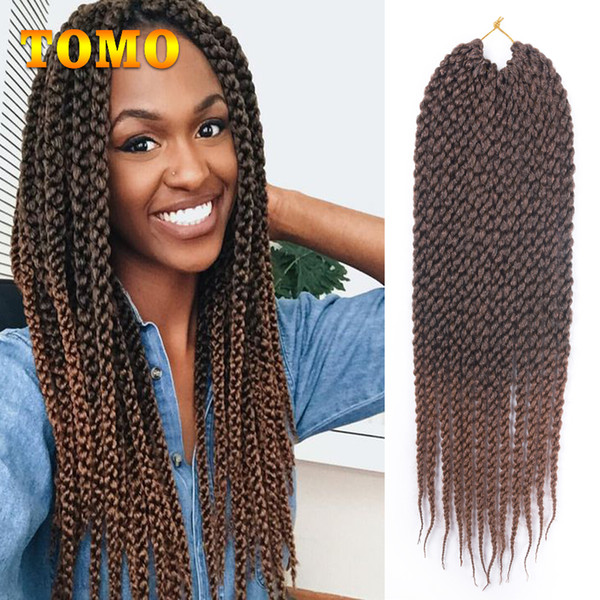 TOMO 3D Cubic Braids Crochet Braided Hair Synthetic Ombre/pure Brown Burgundy Braiding Hair Extensions For Black/White Women 12 strands/pack
