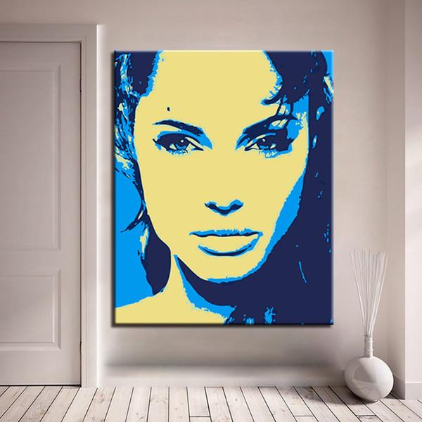 Rahmen Schönheit Frau DIY Digital Ölgemälde durch Zahlen Kits Acryl handbemalt abstrakte Wandkunst Leinwand Bilder Home Decor