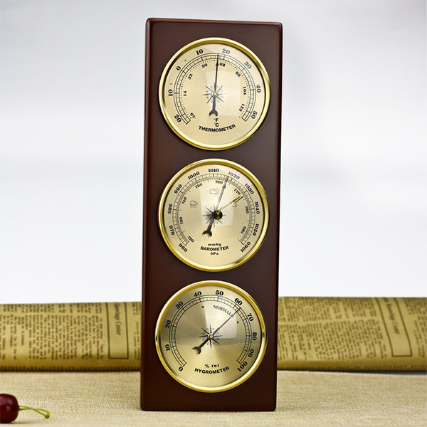 best selling 3Pcs Set Hygrometer Manometer Thermometer Barometer With Wooden Gift Ornaments Weather Station Instrument