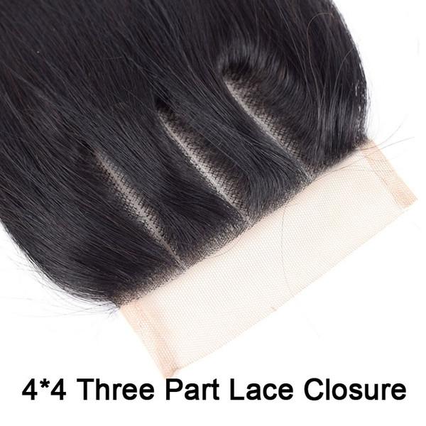 4 * 4 Cierre de tres partes de encaje