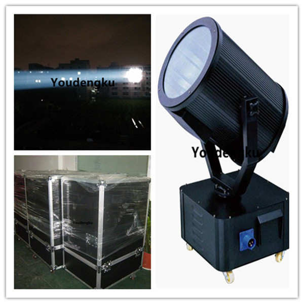 best selling Free shipping 5000w Super power Xenon lamp tracker light outdoor searchlight sky beam light with flightcase
