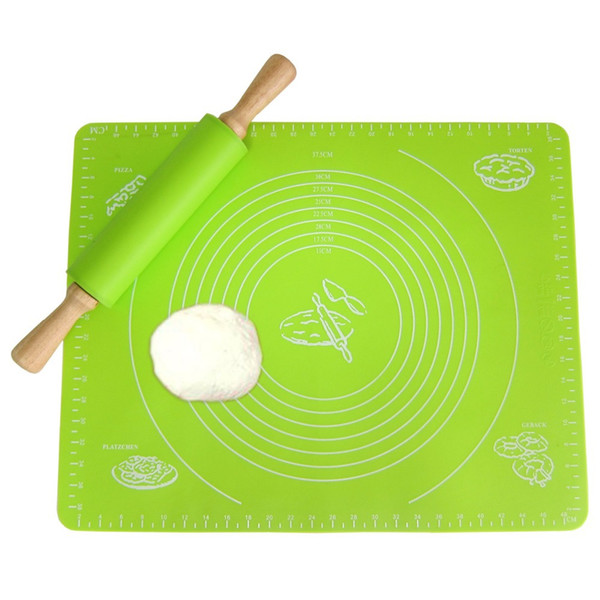 50*40cm Silicone Cake Dough Rolling Kneading Baking Mat With Scale 50*40cm Rolling Cut Mat Fondant Clay Pastry Icing Dough Tools 2020 WN484