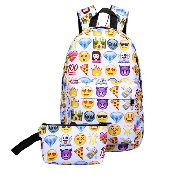 rinted school bags MOJOYCE Women Emoji Shoulder Bag Leisure Best Travel School Bag For Teenagers Girls Shoulder Knapsack Student Cute Moc...