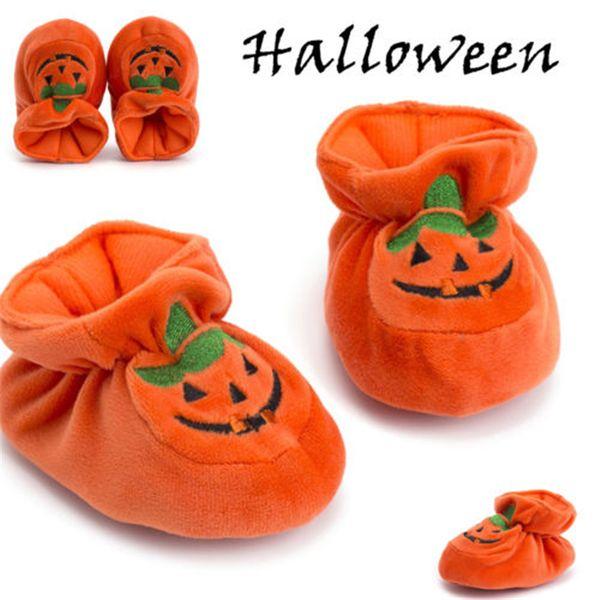 Newborn Cute Baby Boy Girl Shoes Anti-slip Crib Shoes Soft Sole Sneakers Pumpkin Prewalker