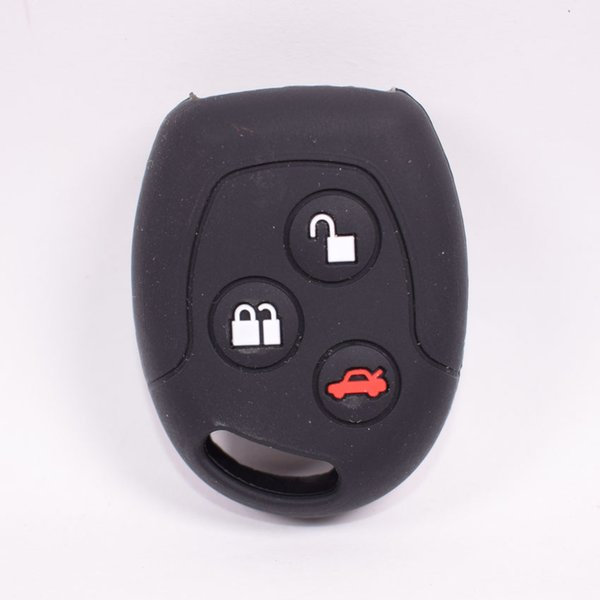 30Pcs/lot Silicone Car Fob Key Case Cover Shell Bag Fit For Mondeo Fiesta Focus C-Max KA GALAXY 3 Buttons Remote Holder