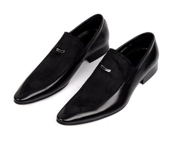 Von Große Schuhe Echtem Größe Schwarze Kleid Wildleder Aus Leder Herren Großhandel Hochzeit Spitz Business Eur45 Yg6Ifmbyv7