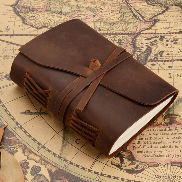 MaoTu Vintage Leather Journal Writing NotRetro Diary Book Sketchbook Creative Gift NotCrafted Blank Paper