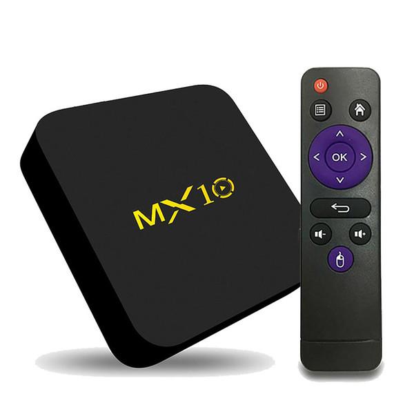 Android TV Box 4GB 32GB Rockchip RK3318 Quad core Smart TV Box RKMC 17.4 4K UHD video streaming MX10 Media Player