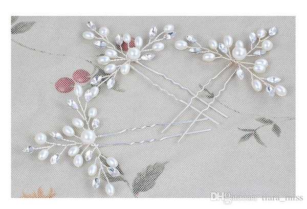 Wedding Accessories Bridal Hairpins Flower Crystal Rhinestone Hair Pins Clips Women Hair Jewelry for Brides Free Shipping Hair Sticks