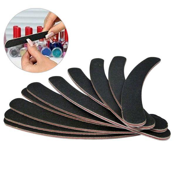 10pcs Half Moon Nail Art Sanding Files Buffer Block Manicure Pedicure Tools Sand Paper Nail File Styling Tools H7JP