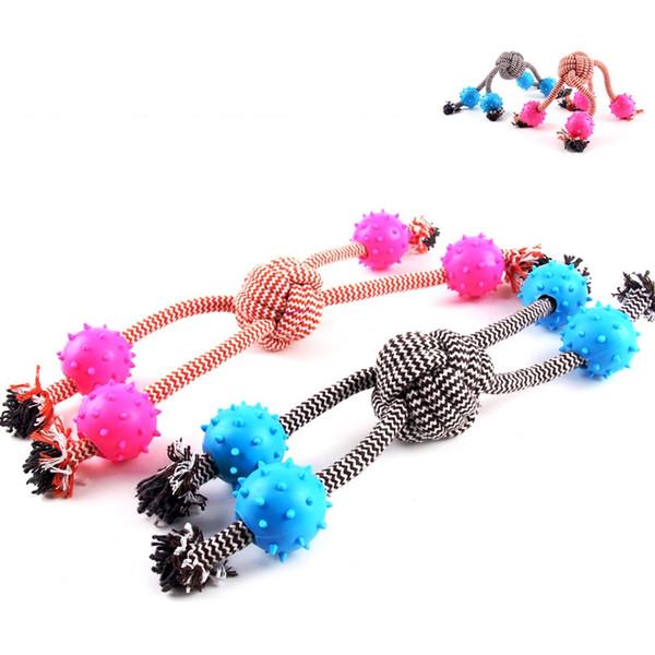 Pet Big Dog Spielzeug Geflochtene Knochen Seil Baumwolle Kauen Knoten Home Werkzeug Form Welpen Kauen Spielzeug Reinigung Zahn