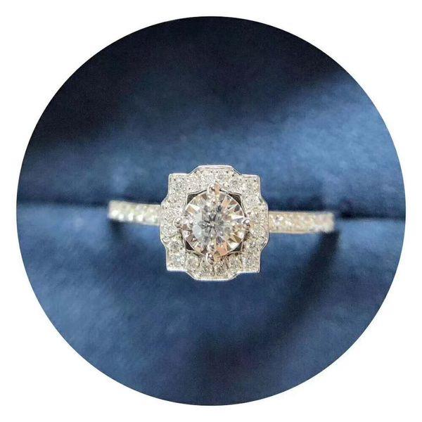 Moissanite Diamond Rings 3EX Cut D/F Color Luxury 9K,14K,18K Gold Group Setting Wedding Ring Romantic Rose Handmade Ring With Certificate