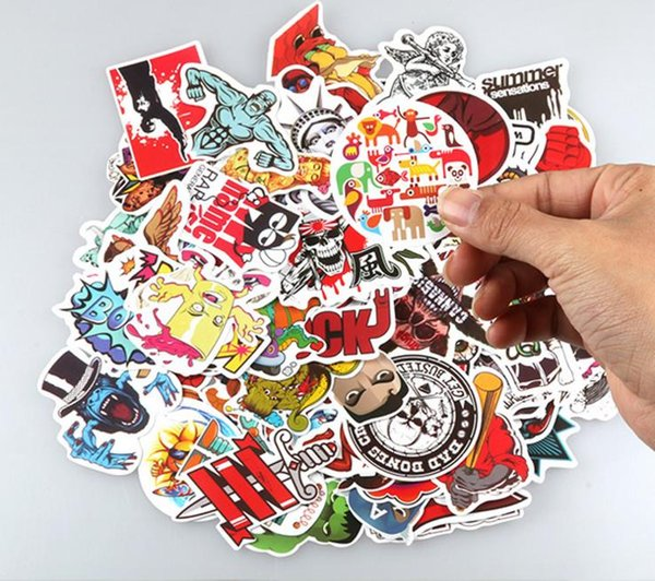 500 Pcs Sticker Blackboard Decals Posters Wall Paster for Laptop Cars Bicycle Luggage Bumper Hippie Bomb Waterproof Tags No-Duplicate Random