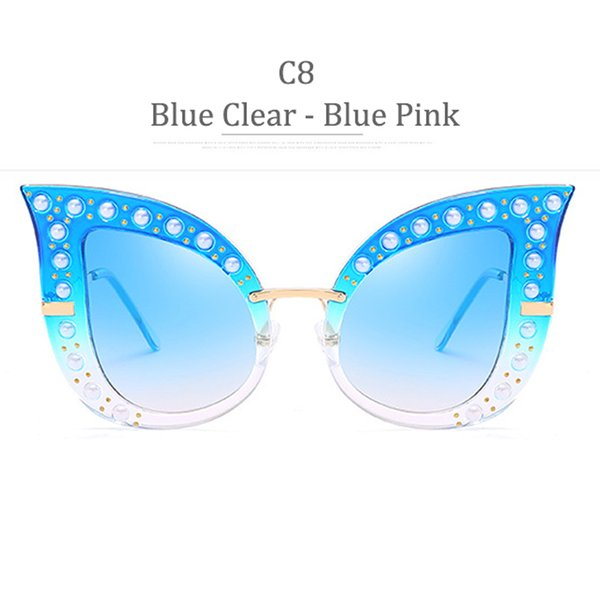 C8 Blue Clear Frame Blue Pink