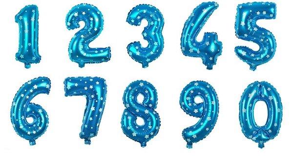 numeri blu da 0 a 9