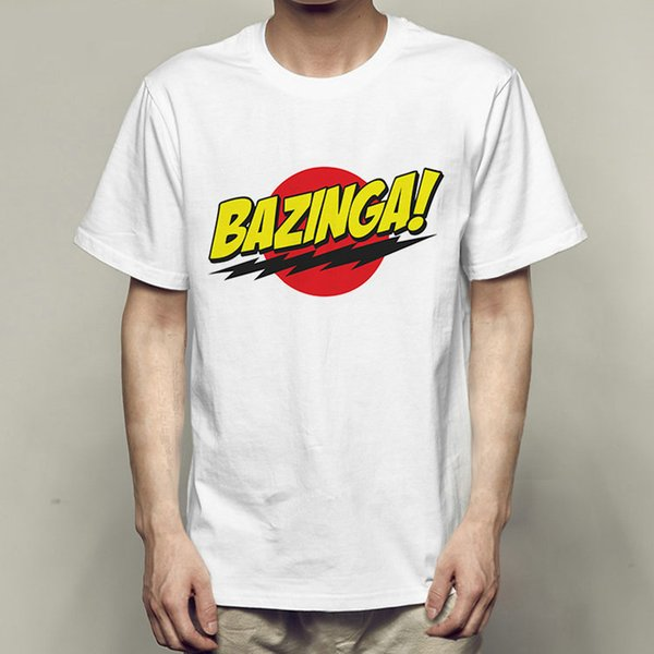 Bazinga t shirt The Big Bang Theory short sleeve gown Cool tees Fastness printing clothing Quality modal Tshirt