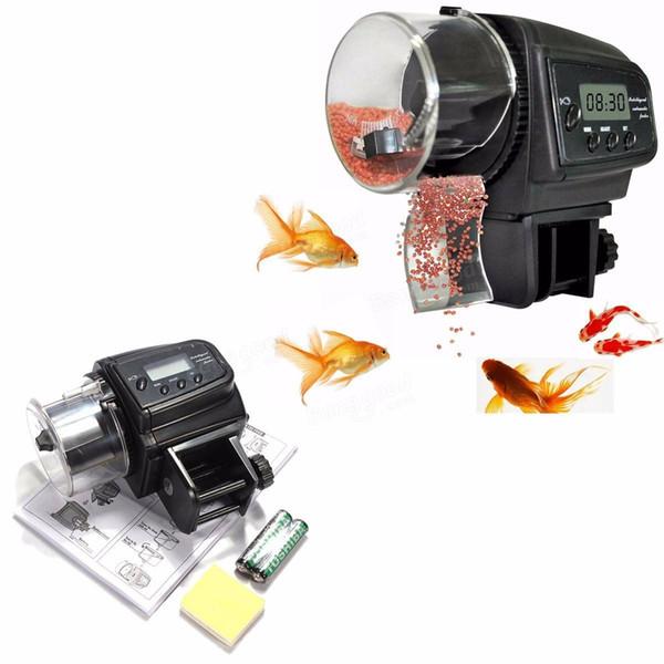Регулируемая автоматическая Аквариум LCD таймер кормушку для Рыб кормления автоматическая кормушка для Рыб Pet цифровой Аквариум Пон