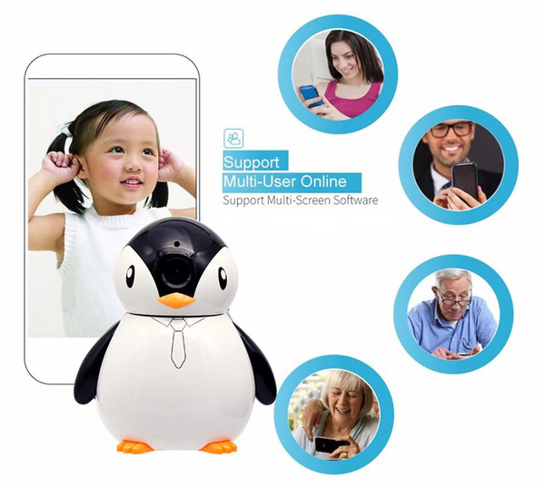 Penguin Baby Monitor IP camera HD 960P 1.3mp Full View CCTV Mini Camera Wireless Network Home Security WiFi Camera Alarm Free Dhl