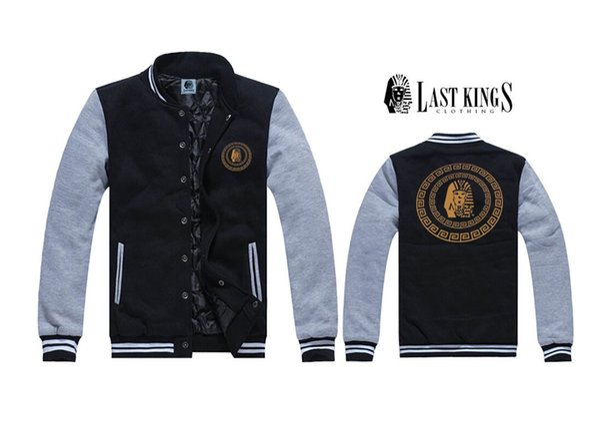 Livraison gratuite Last Kings Hommes Vestes hiphop polaire survêtement Manteaux marque hommes vêtements en cuir veste hiphop Vêtements S-3XL J6