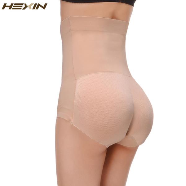 HEXIN Breathable Pants Women Seamless Traceless Padded Butt Lifter High Waist Sexy Underwear Buttocks Push Up Body Shaper Panty