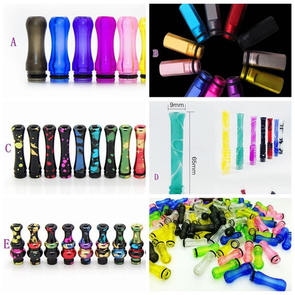 EGO Plastic 510 Drip Tips Acrylic Mouthpiece Gourd Shape Prevent Spatter Colorful For VAPE EGO ONE Vaporizer 1453 Tank High Quality