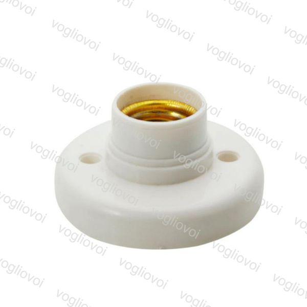 Lampenfassung E27 Runde Lampenfassung Sockel Weiß Lampenfassung schwer entflammbar PBT Adapter Konverter EPACKET