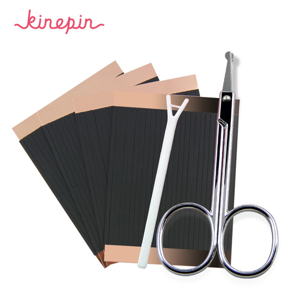 KINEPIN 208pcs Magic Makeup Eye Sticker Invisible Double Sided Eyelid Tape Stickers Stretch Eyes Adhesive Fiber Strips Tools