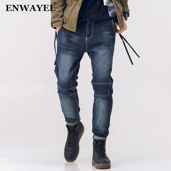 ENWAYEL Automne Nouveau Denim Jeans Casual Hommes Maigre De Mode Harem Classique Slim Fit Mâle Pantalon Pour Hommes Hip Hop Streetwear Coréen
