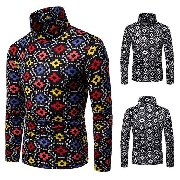 2018 bigger sizes men wool thermal long sleeve turtleneck tetris q149 render unlined upper garment thumbnail