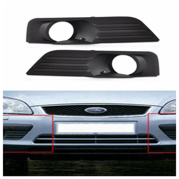 Fog Lamp Grille Front Lower Side Bumper Fog Light Cover for Ford Focus 2005-2008 Black Auto Side Hole Grills DDA306