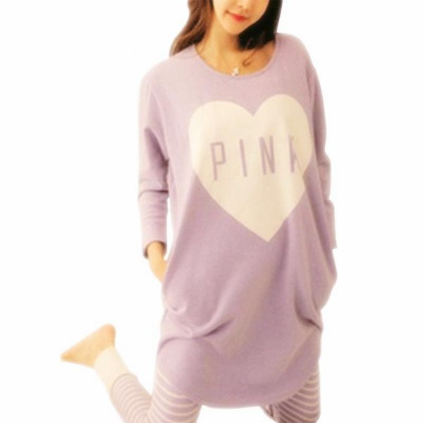 2017 Donne Set Pigiama Primavera Estate Sleepwear Womens Manica Lunga Cute Pigiama Ragazze Kawaii Night Homewear Camicia Da Notte Plus Size