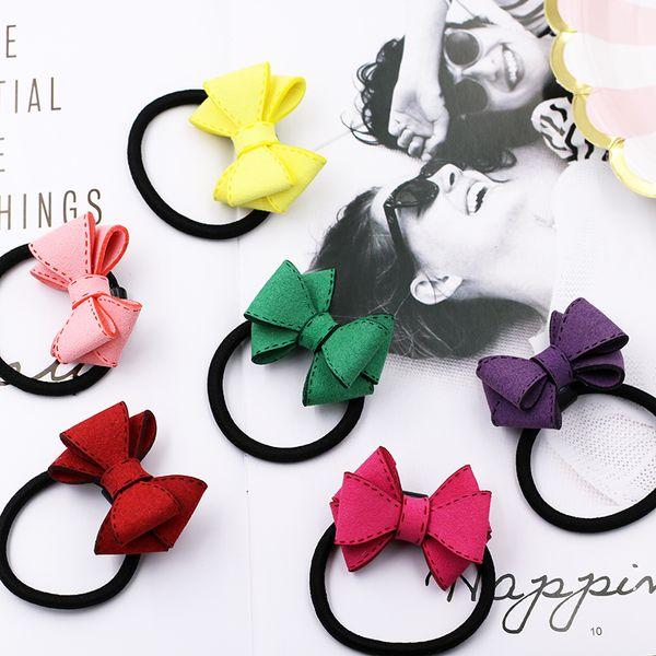Gomma giapponese moda giapponese elastico per le donne Lovely Bow Hair Corde per Ponytail Holder Tie Gengive Ragazze accessori per capelli