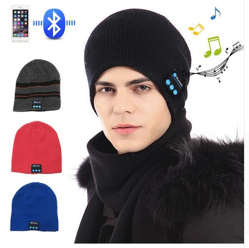 New Bluetooth Hat Music Beanie Cap Bluetooth V4.1 Stereo Wireless Earphone Headphone Speaker Microphone Handsfree For Iphone 8 With Package