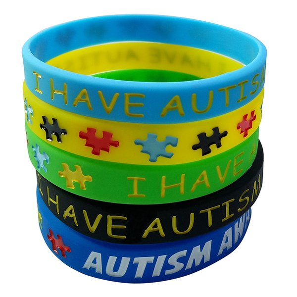 d3c5ba2f95df Autism Awareness Wristbands Colorful Puzzle Pieces Silicone Bracelets  Flexible Silicone Rubber Wrist Band For Kids And Adults Silver Charm  Bracelets ...