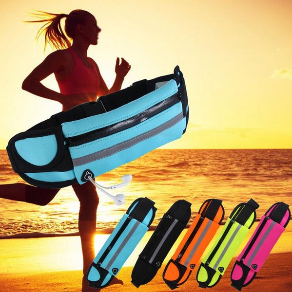 by dhl or ems 50pcs Slim Running Cell Phone Chest Waist Fanny Bag Sports Running Bag free shipping